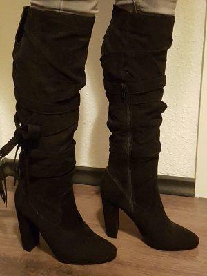 Schwarze Stiefel neu blogger gr. 39
