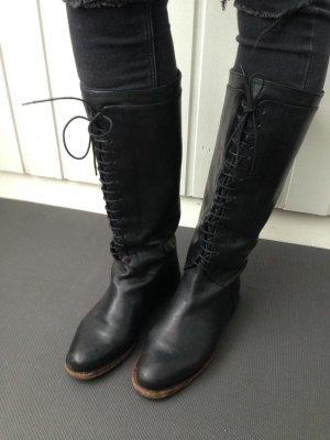 Schwarze Stiefel Schnürstiefel  vintage 90´s Boots