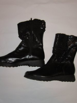 Schwarze Stiefel Vintage Retro Gr. 42/43
