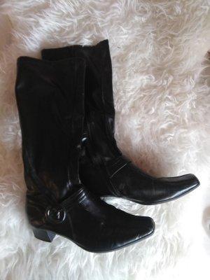 schwarze Stiefel von Görtz Größe 40 mit Schnalle