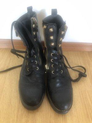 Maripé Bottes à lacets noir