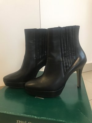 Paul Green Platform Booties black leather