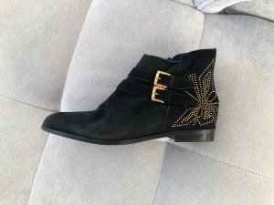 Artigiano Zipper Booties black-gold-colored