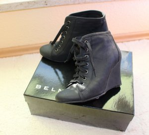 Belmondo Wedge Booties black leather