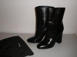 Schwarze Stiefeletten aus Leder von Dolce&Gabbana