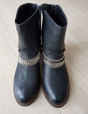 Schwarze Stiefeletten, Boots, Größe 38, Deichmann