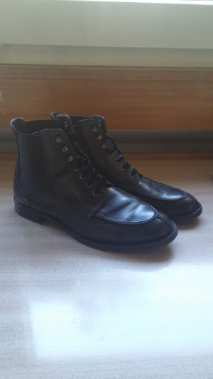 AGL Lace-up Booties black leather
