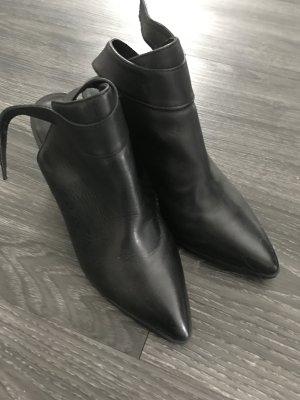 Blanco Botines negro
