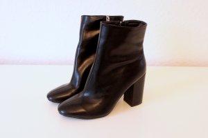 Schwarze Stiefeletten mit Absatz und Reißverschluss (neu!)