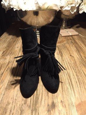 Schwarze Stiefeletten mit quasten von &otherstoeries
