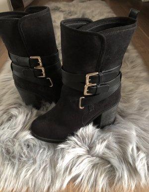 New Look Slip-on Booties black