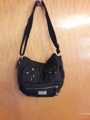 Schwarze Stoffhandtasche von s. Oliver