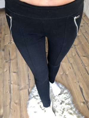 Leggings negro-color plata