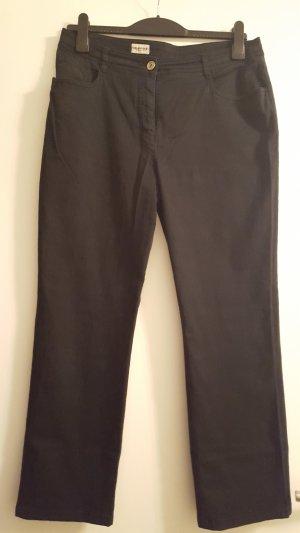 Schwarze Stoffhose, leichte Jeans, Canda Jeans, Gr. 42K