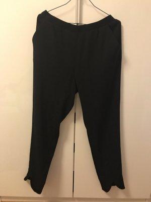 Schwarze Stoffhose mit Gummizug