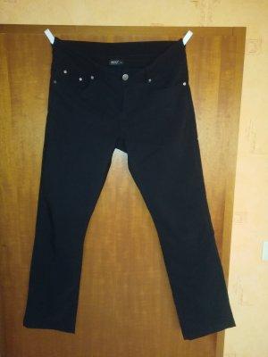 Schwarze Stoffhose, straight leg, Gr. 40