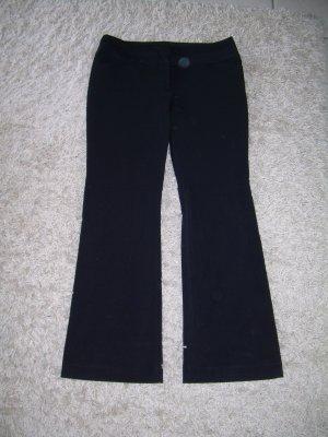 schwarze Stoffhose von Amisu Gr. 42 mit Schlag Anzughose Business