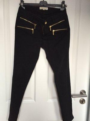 Michael Kors Drainpipe Trousers black-gold-colored