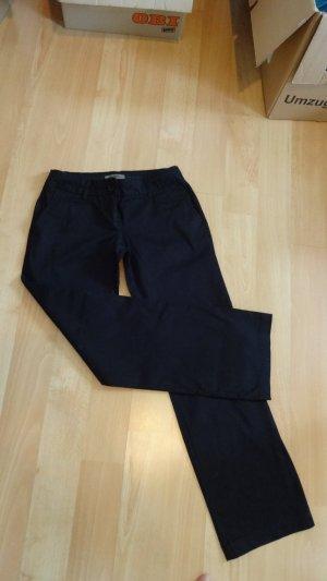 schwarze Stoffhose von mng basic