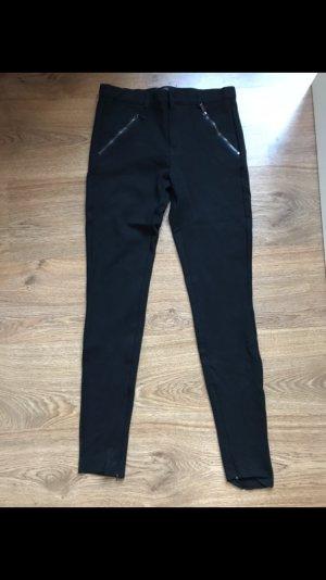 Schwarze Stoffhose von Zara, Größe S