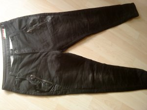 schwarze Stretchhose Boyfriend 38 made in italy Denim Firenze