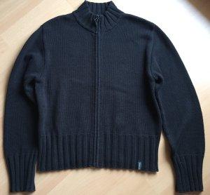 Schwarze Strickjacke aus reiner Baumwolle von Street One in Größe 40