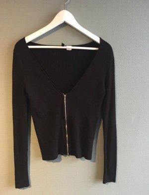 Schwarze Strickjacke H&M