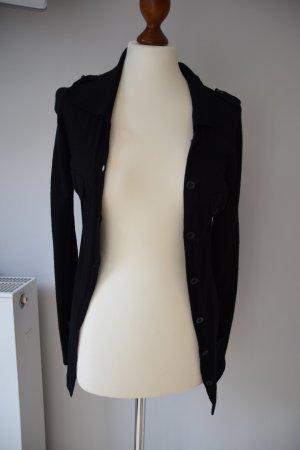 schwarze Strickjacke mit Schulterklappen von IMITZ