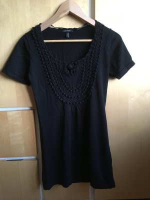 Apart Knitted Jumper black cotton