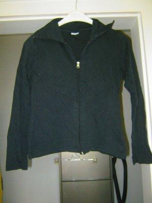 schwarze Sweatshirt-Jacke