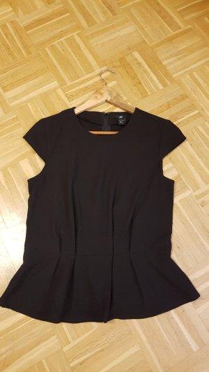 schwarze taillierte Bluse Grösse 36