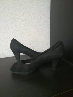 Tamaris Escarpins à bout ouvert noir cuir