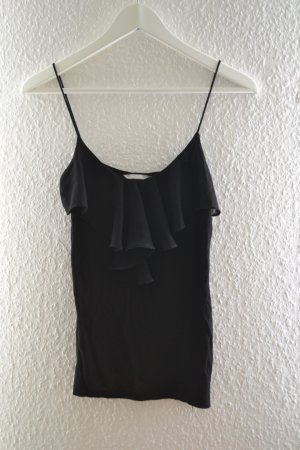 H&M Ruffled Blouse black