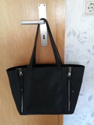 C&A Shopper zwart-grijs-bruin
