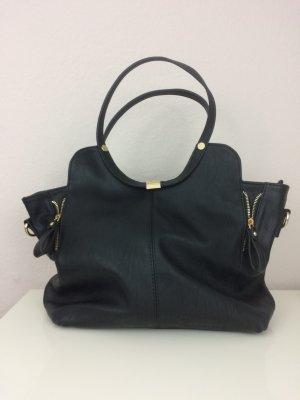 Schwarze Tasche Handtasche Henkeltasche von David Jones