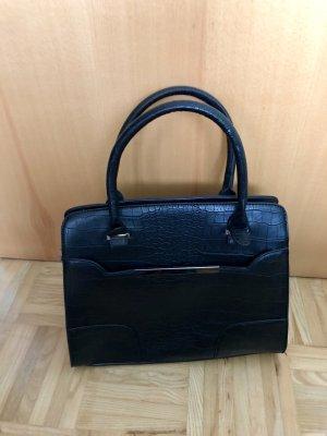 schwarze Tasche Lederoptik