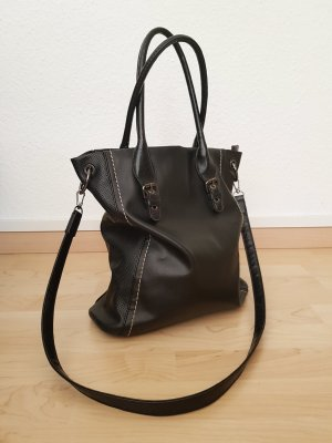 David Jones Carry Bag black-cognac-coloured polyurethane