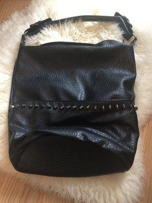 Schwarze Tasche mit Nieten für Damen