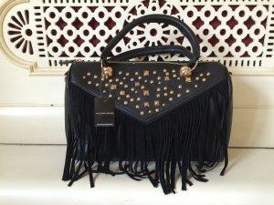 Schwarze Tasche mit Nieten von Wilsons Leather