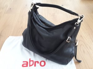 abro Pouch Bag black-gold-colored leather
