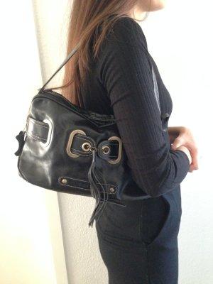 Schwarze Tasche von L.Credi- echtes Leder + kleine Überraschung