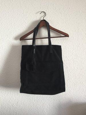 Schwarze Tasche Wildleder NEU
