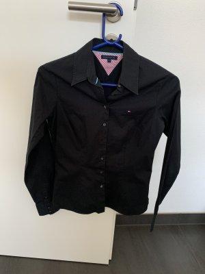 Schwarze Tommy Hilfiger Bluse
