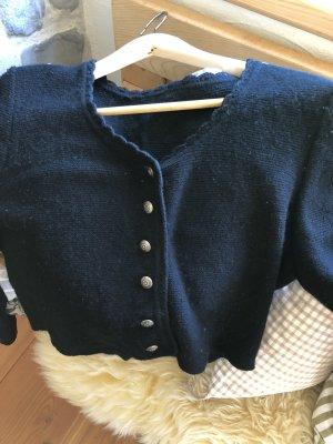Chaqueta folclórica negro lana merina