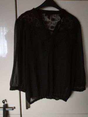schwarze Transpare-Bluse