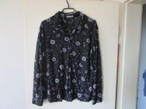 schwarze transparent Bluse