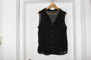 schwarze, transparente Bluse, 38