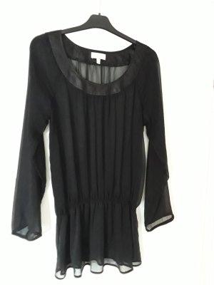 Schwarze, transparente Bluse