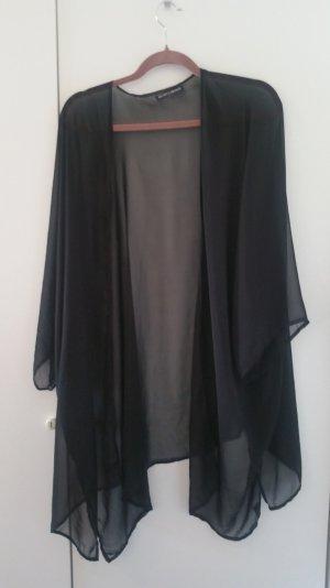 schwarze transparente Longjacke