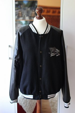 Vintage Bomber Jacket black-white